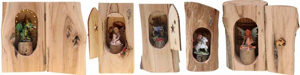 fairy doors houses native timber wooden hand made australia